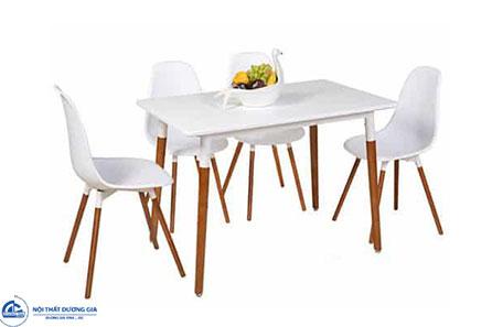 Bộ bàn ghế ăn HGB72 + HGG72 đơn giản, hiện đại