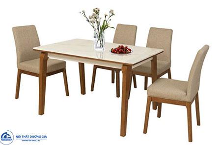 Bộ bàn ghế ăn gỗ tần bì HGB76A, HGB76B + HGG76