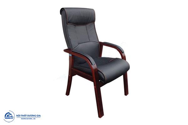 Ghế phòng họp bằng gỗ bọc da cao cấp GH10