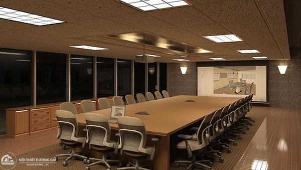 Kích thước, kiểu dáng của bàn họp văn phòng
