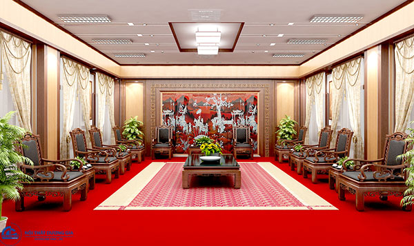 Thiết kế nội thất phòng khánh tiết mang bản sắc văn hóa của quốc gia/ tổ chức