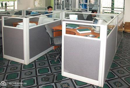 Vách ngăn văn phòng khung nhôm VN03