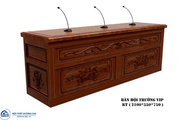 Bàn hội trường gỗ tự nhiên cao cấp, sang trọng BHTTN-DG01