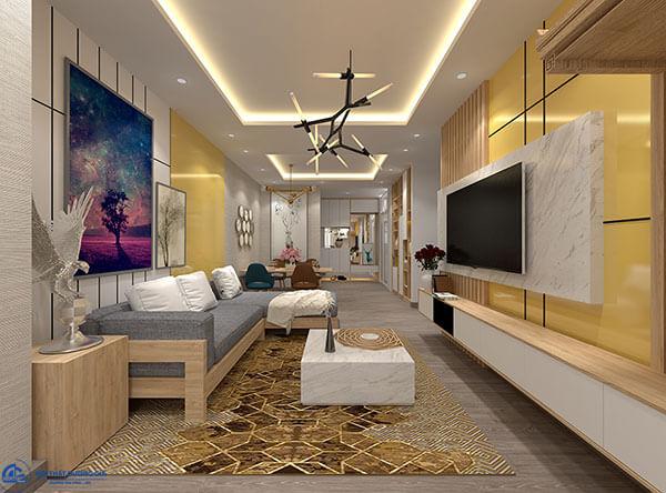 Thiết kế nội thất phòng khách chung cư CC-DG04