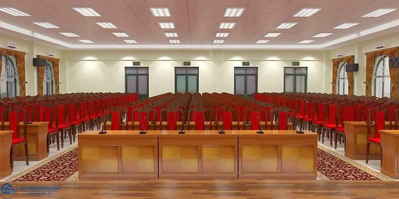 Kích thước mẫu bàn ghế hội trường đẹp