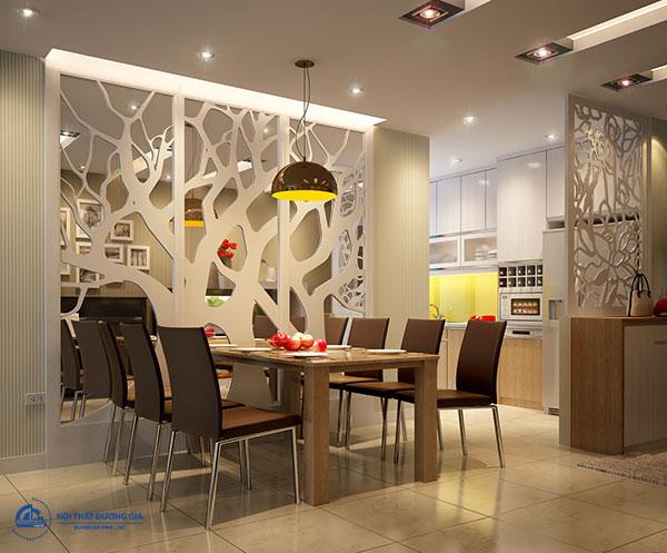Mẫuvách ngăn phòng khách và bếp đẹp, hiện đại