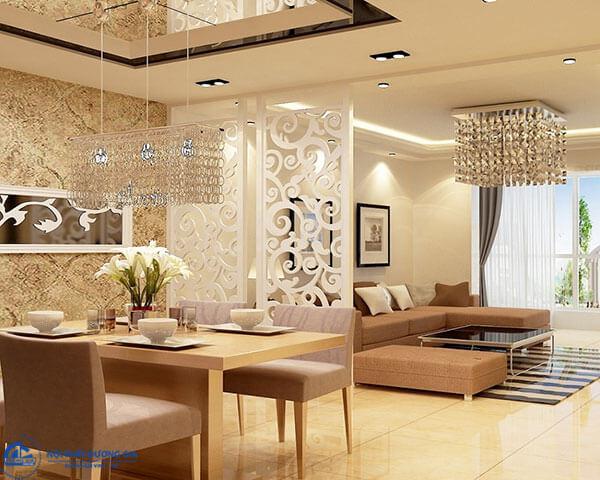 Vách ngăn đẹp cho phòng khách và phòng ăn