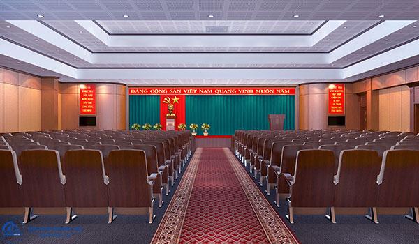 Tiêu chuẩn về cách sắp xếp đồ nội thất trên sân khấu hội trường