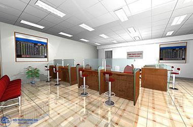 Tư vấn cách thiết kế quầy giao dịch ngân hàng đẹp, chuyên nghiệp