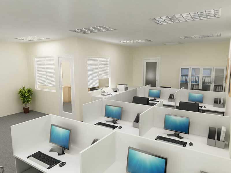 Vách ngăn văn phòng tạo khoảng không gian riêng tư