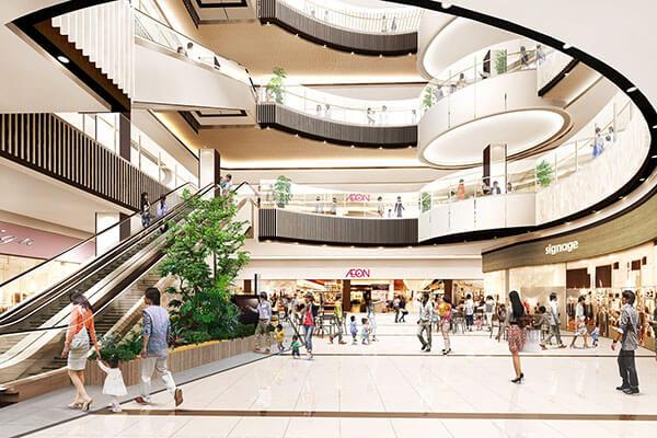 Ánh sáng trong thiết kế trung tâm thương mại