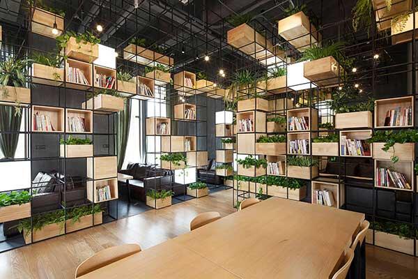 Sử dụng vách ngăn hiện đại trong văn phòng xanh Green Office