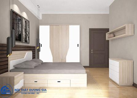 Bộ giường tủ phòng ngủ 302 hiện đại, lịch sự