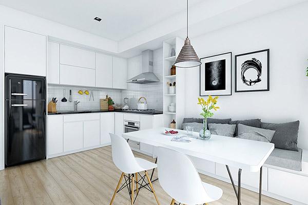 Mẫu nội thất phòng bếp ăn đẹp