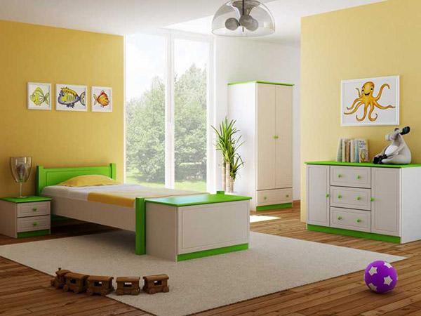 Phòng ngủ diện tích nhỏ cho bé trai