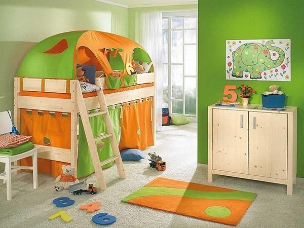 Phòng ngủ ấn tượng của bé trai