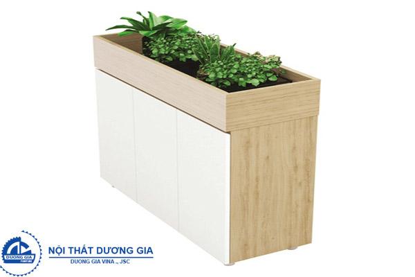 Tủ gỗ đẹp có khoang đựng cây trang trí TG02-3C