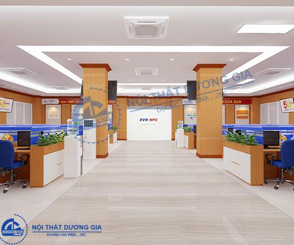 Thiết kế văn phòng Giao dịch viên- Điện lực Miền Bắc VP-DG27 (góc chụp 2)