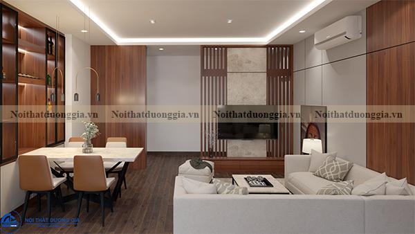 Thiết kế nội thất gia đình tại Eurowindow GĐ-DG02 - phòng khách (góc chụp3)