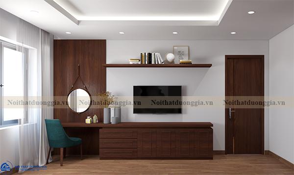 Thiết kế nội thất gia đình NTGD-DG16 - phòng ngủ master (view 2)