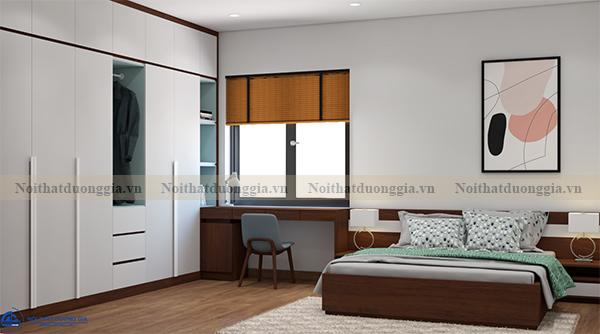 Thiết kế nội thất gia đình NTGD-DG16 - phòng ngủ con 2 (view 1)