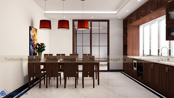Thiết kế nội thất gia đình NTGD-DG16 - phòng bếp (view 2)