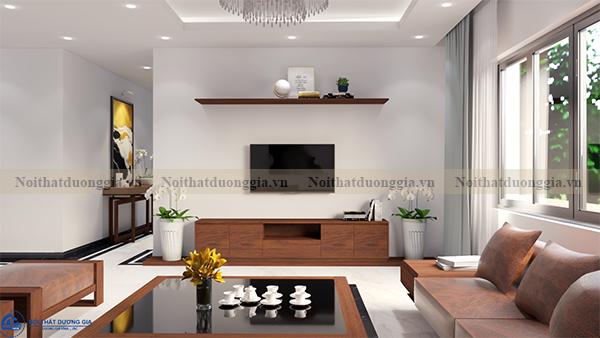 Thiết kế nội thất gia đình NTGD-DG16 - phòng khách (view 2)