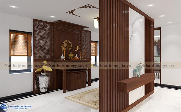 Thiết kế nội thất gia đình NTGD-DG16 - phòng khách (view 3)