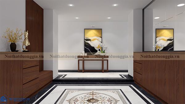 Thiết kế nội thất gia đình NTGD-DG16 - phòng khách (view 4)
