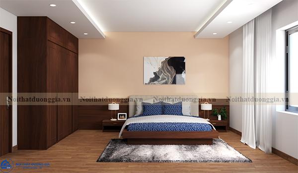 Thiết kế nội thất gia đình NTGD-DG16 - phòng ngủ master (view 1)