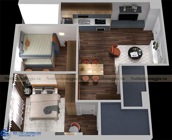 Phòng ngủ master (góc chụp 1)