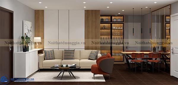 Thiết kế nội thất gia đình NTGD-DG03 - phòng khách
