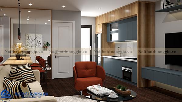 Thiết kế nội thất gia đình NTGD-DG03 - phòng bếp (góc chụp 1)