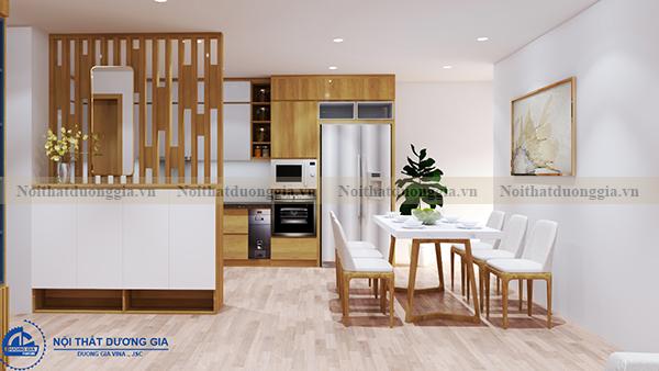 Thiết kế nội thất gia đình NTGD-DG04 - phòng bếp (góc chụp 2)