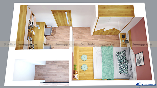 Thiết kế nội thất gia đình NTGD-DG04 - phòng ngủ (góc chụp 1)