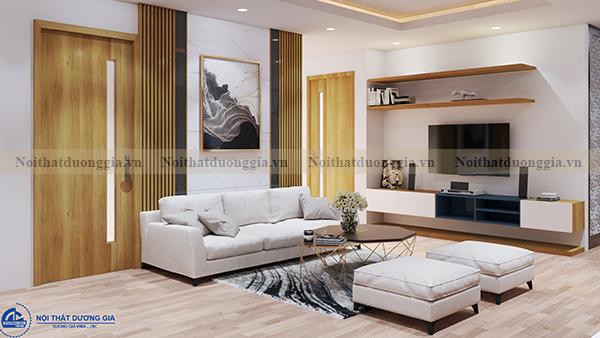 Thiết kế nội thất gia đình NTGD-DG04 - phòng khách (góc chụp 3)
