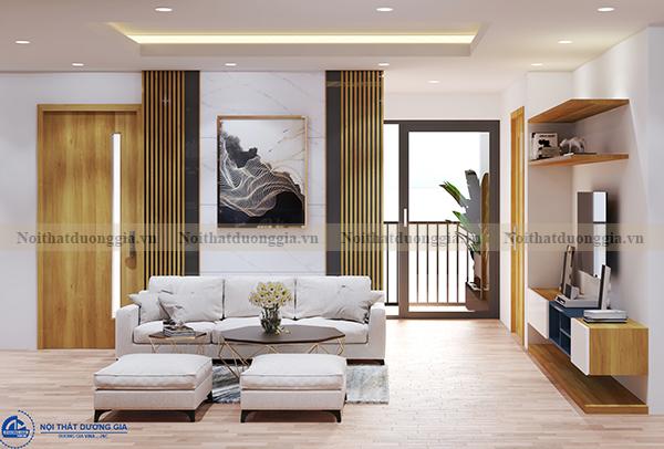 Thiết kế nội thất gia đình NTGD-DG04 - phòng khách (góc chụp 2)