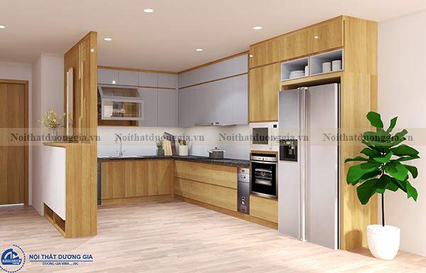 Thiết kế nội thất gia đình NTGD-DG04 - phòng bếp (góc chụp 4)