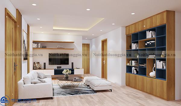 Thiết kế nội thất gia đình NTGD-DG04 - phòng khách (góc chụp 1)