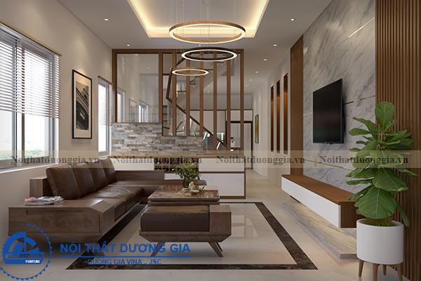 Thiết kế nội thất gia đình NTGD-DG05 - phòng khách (góc chụp 2)