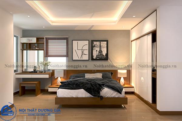Thiết kế nội thất gia đình NTGD-DG05 - phòng Master (góc chụp 6)