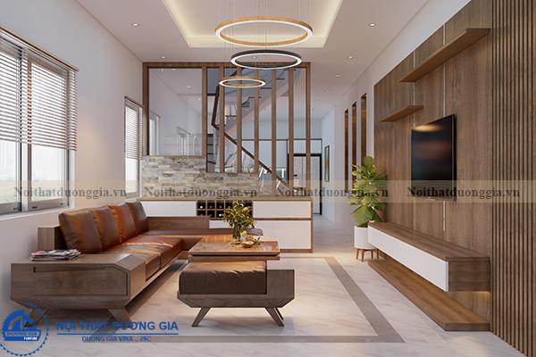 Thiết kế nội thất gia đình NTGD-DG05 - phòng khách (góc chụp 1)
