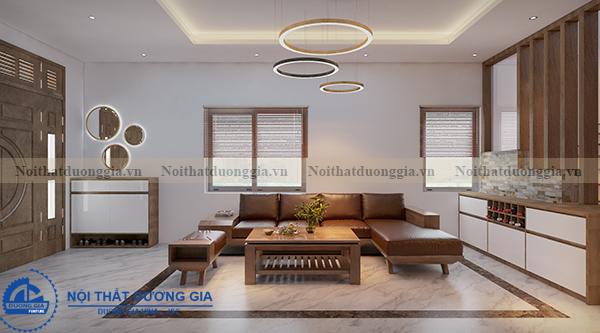 Thiết kế nội thất gia đình NTGD-DG05 - phòng khách (góc chụp 3)