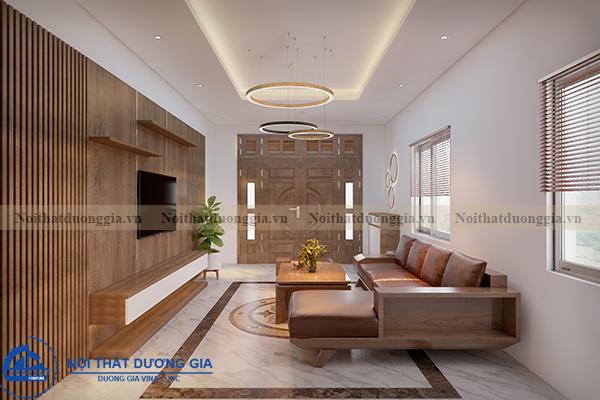 Thiết kế nội thất gia đình NTGD-DG05 - phòng khách (góc chụp 4)