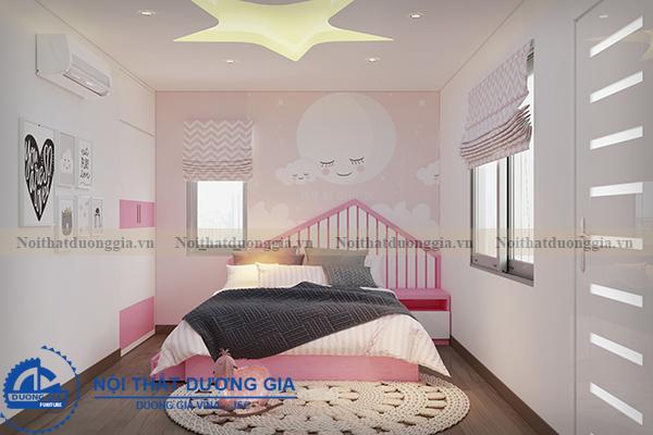 Thiết kế nội thất gia đình NTGD-DG05 - phòng ngủ con gái (góc chụp 1)