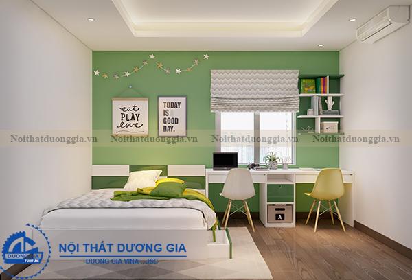 Thiết kế nội thất gia đình NTGD-DG05 - phòng ngủ con trai (góc chụp 1)