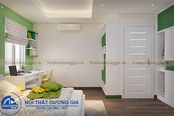 Thiết kế nội thất gia đình NTGD-DG05 - phòng ngủ con trai (góc chụp 2)