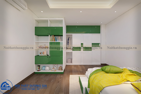 Thiết kế nội thất gia đình NTGD-DG05 - phòng ngủ con trai (góc chụp 3)