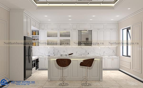 Thiết kế nội thất gia đình NTGD-DG06 - Phòng bếp (góc chụp 2)