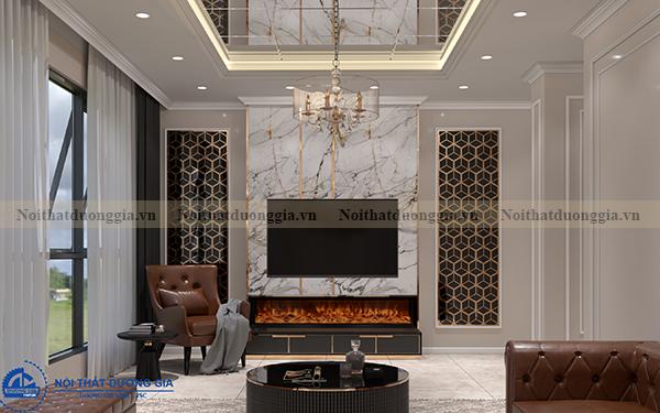 Thiết kế nội thất gia đình NTGD-DG06 - phòng khách (góc chụp 2)
